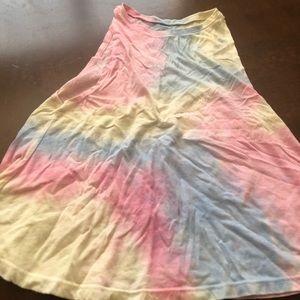 Arizona pastel tie dye tank top